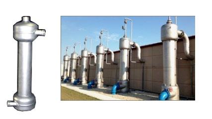 Separación de gases arrastrados y no disueltos